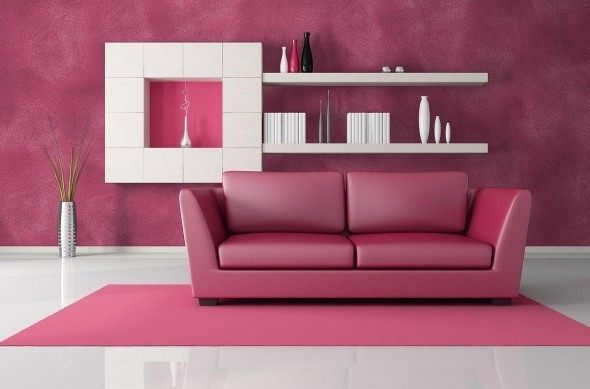 Modern-interior-Decorating-in-pink-and-w