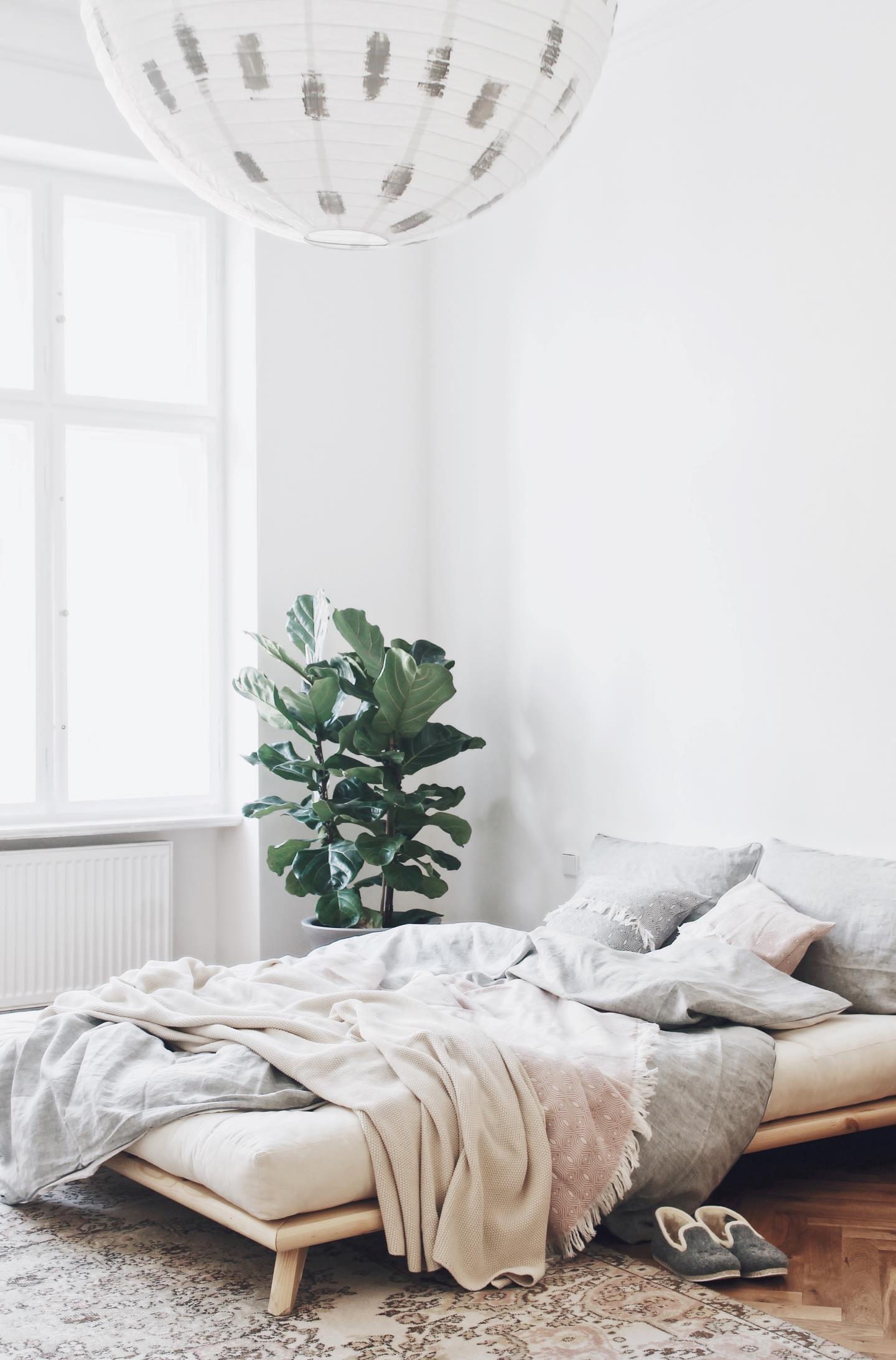 karup, senza, futon-sänky, minimalistinen sänky