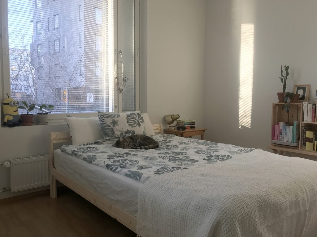 uusi sänky, neiden, ikea, hamarvik, makuuhuone, sisustus
